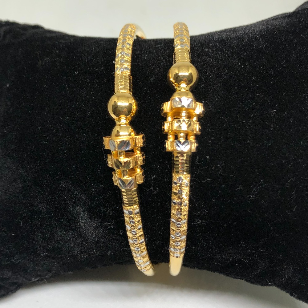 916 Gold Classic Copper Kadli Bangles VN-B08