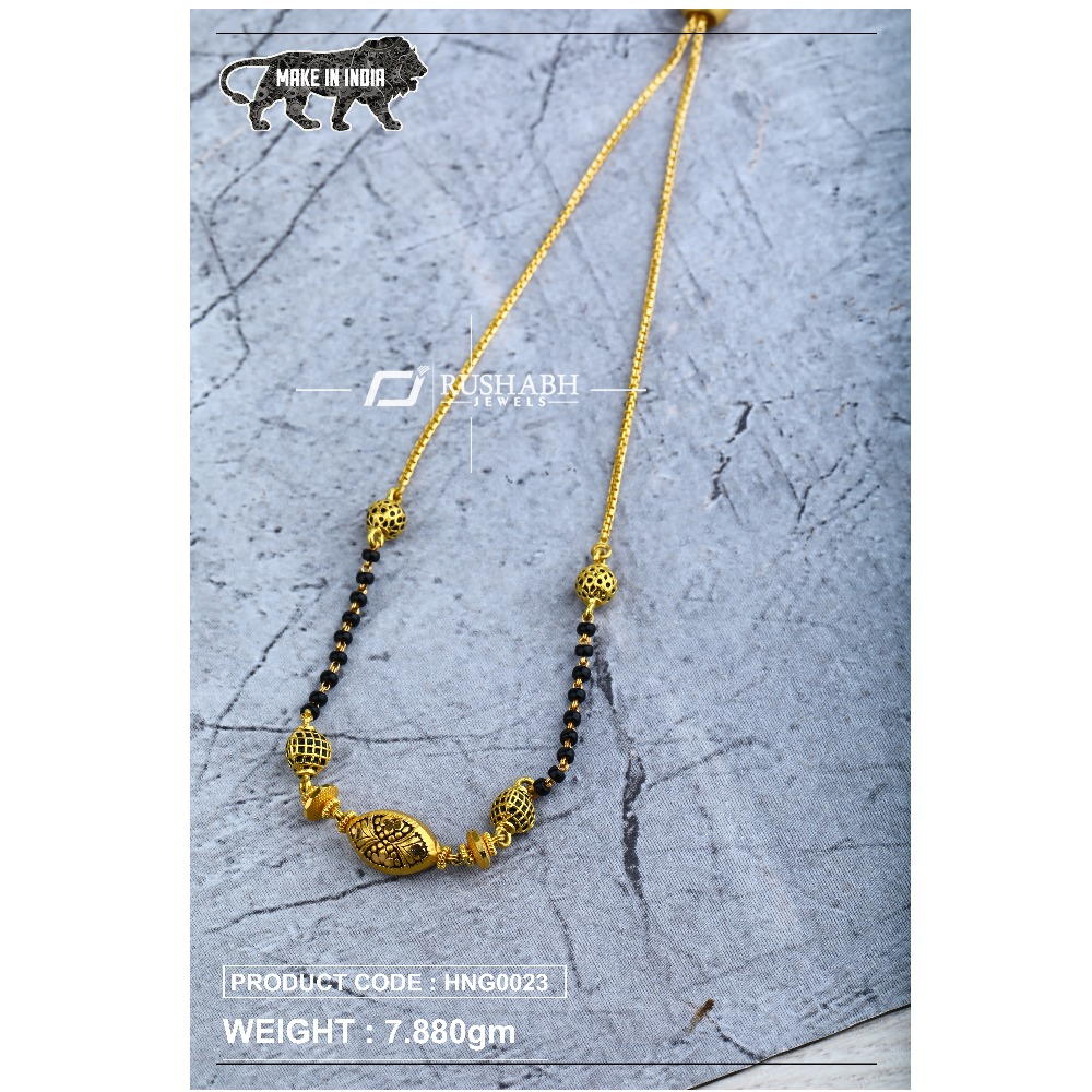 22 Carat 916 Ladies handy antique mangalsutra with chain hng0023