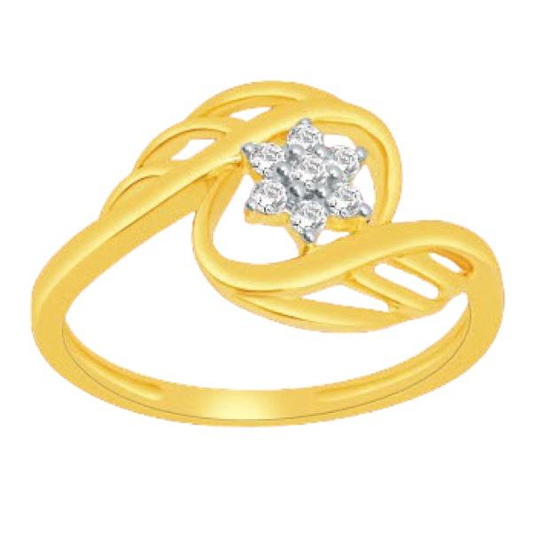 18 K gold real diamond ring