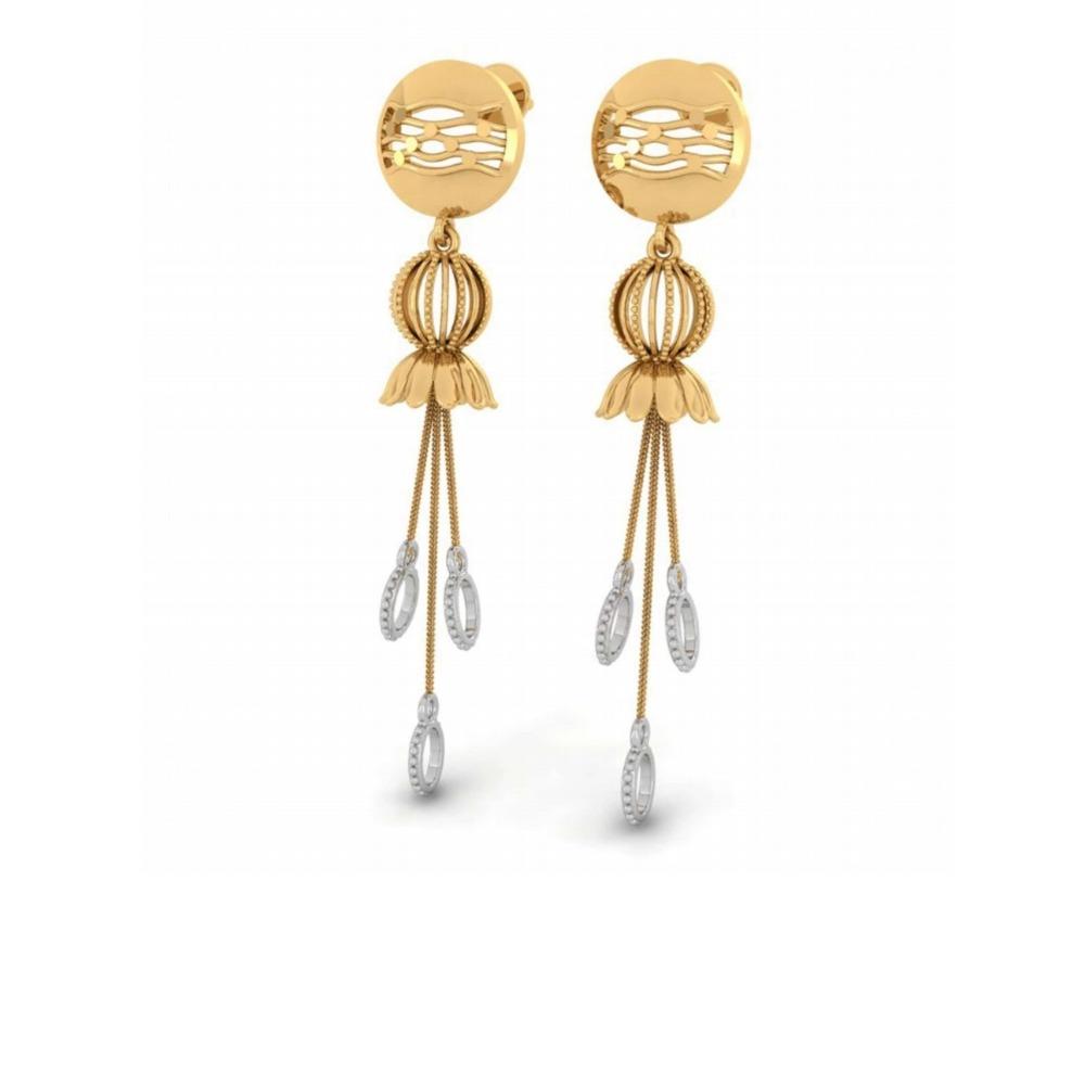 22kt gold designer earring for women pj-e002