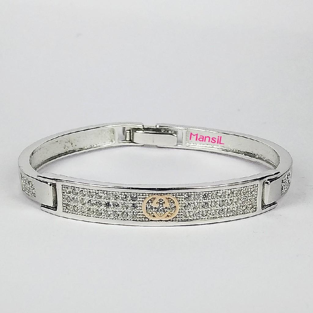 92.5 sterling silver Baby kada bracelet ML-114