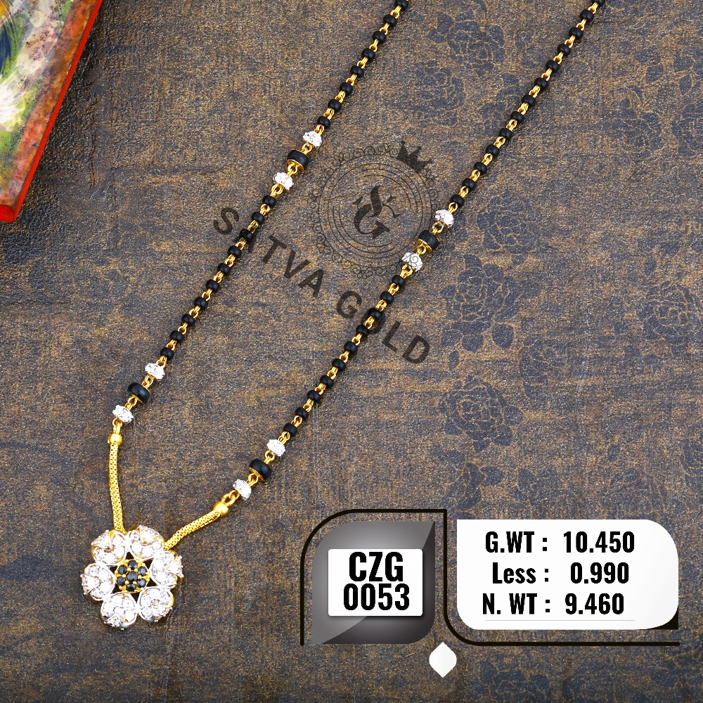 916 Gold CZ Mangalsutra CZG-0053