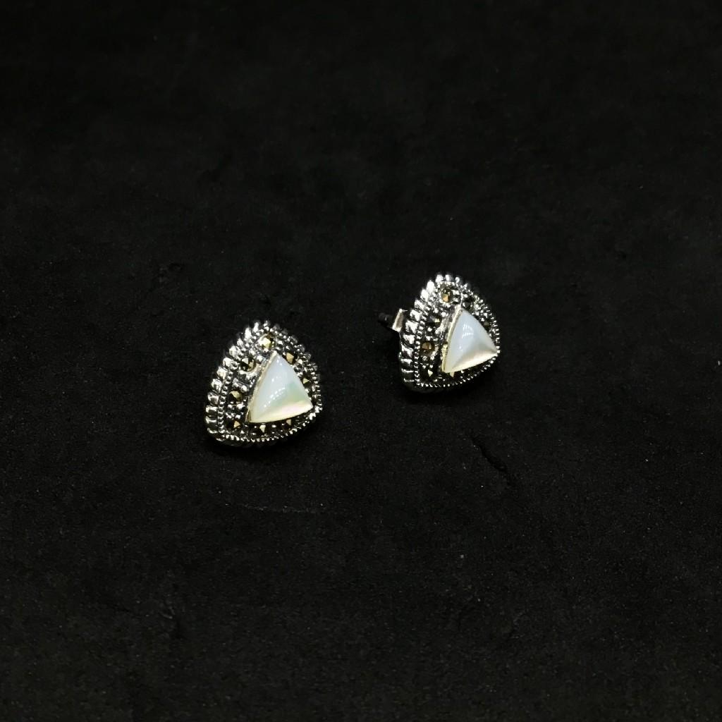 925 fancy stone earring