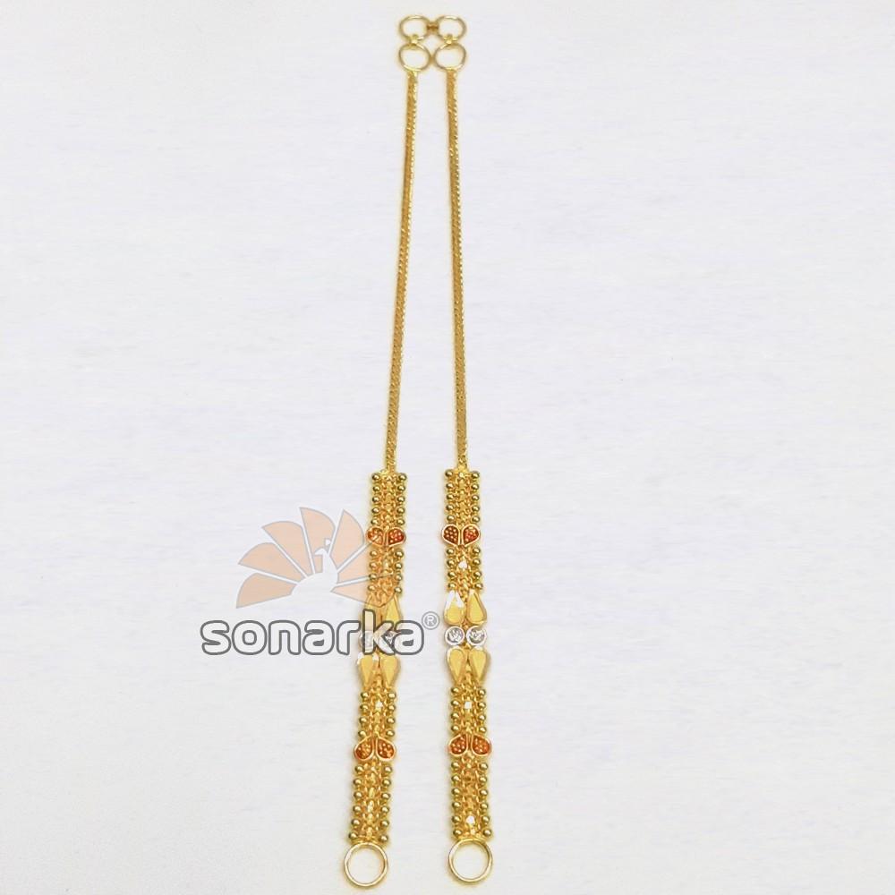 Gold Earchain SK - K015