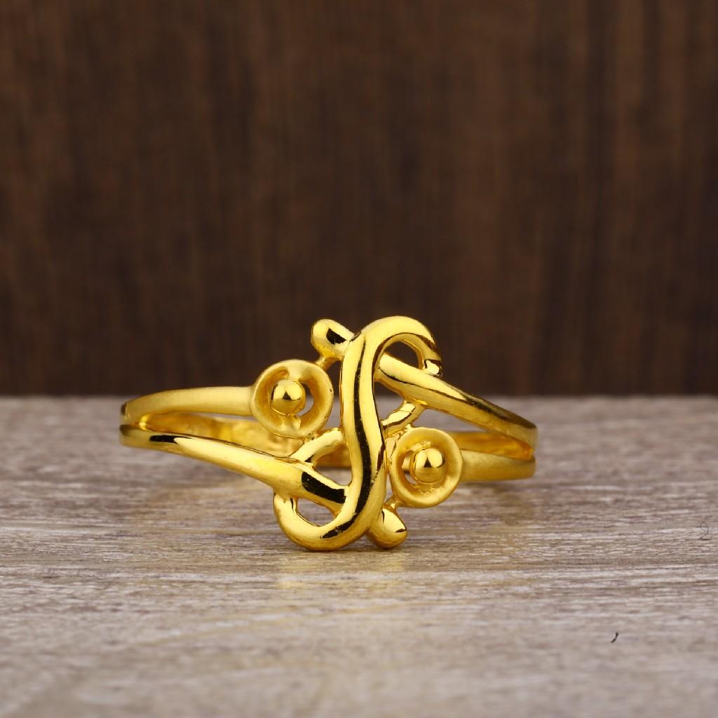 916 Gold Women's Exclusive Plain Ring LPR235
