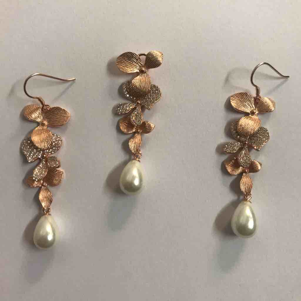 pearl drop pendant set