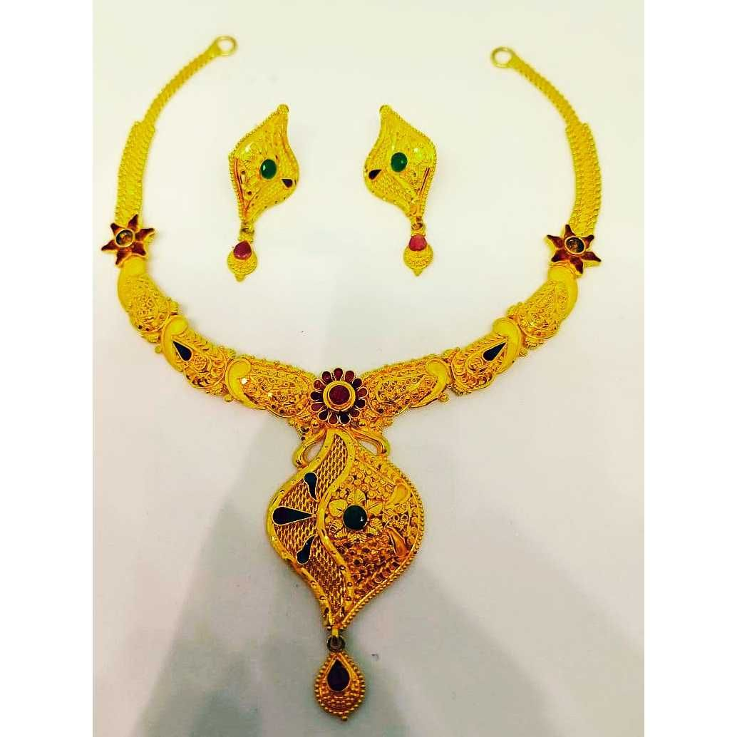 916 gold fancy necklace set bj-n019