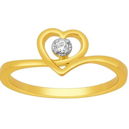 18k gold real diamond ring mga - rdr0015