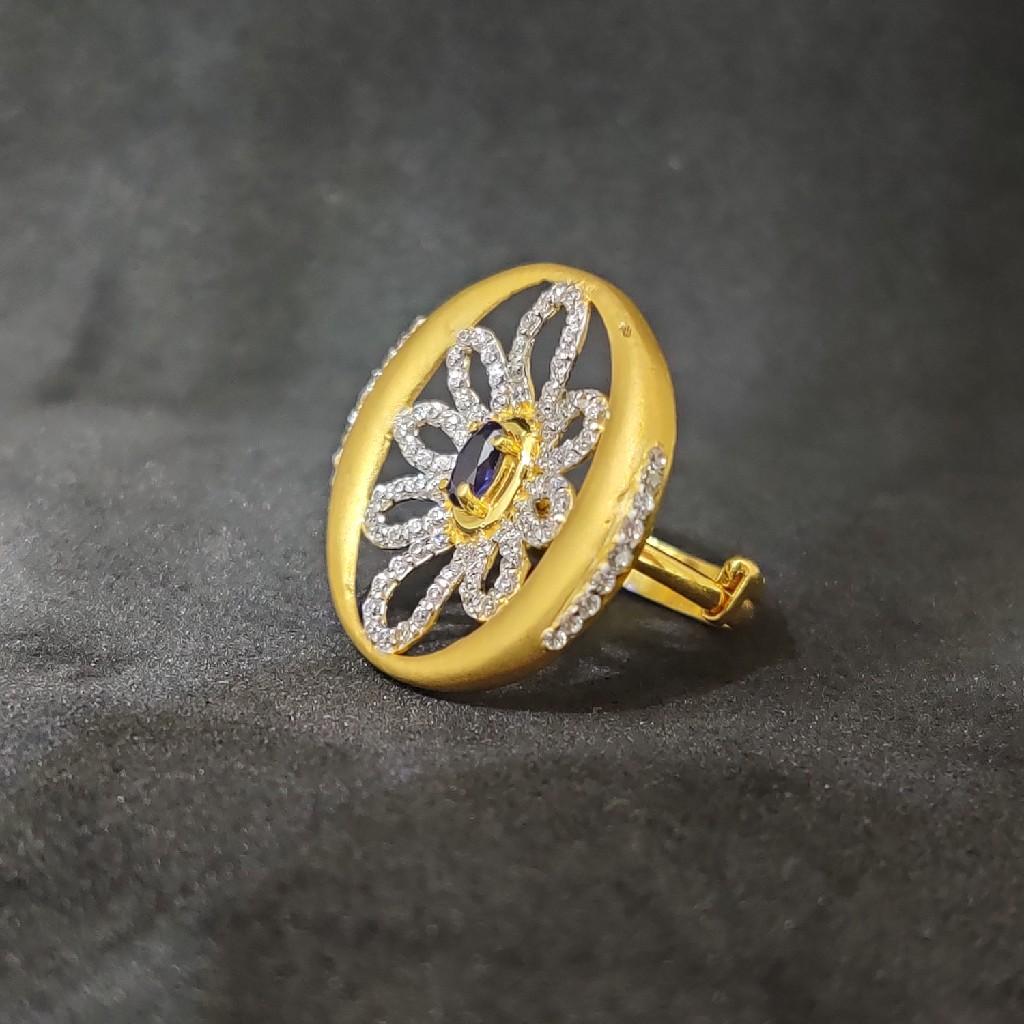 Gold desinger 22k ladies gold ring-15028