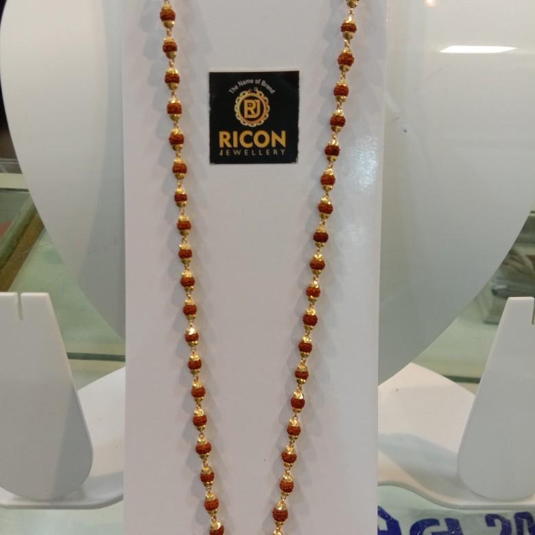 916 gold rudraksha mala