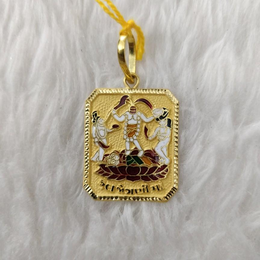 916 Gold Ful Jogani Maa Pendant