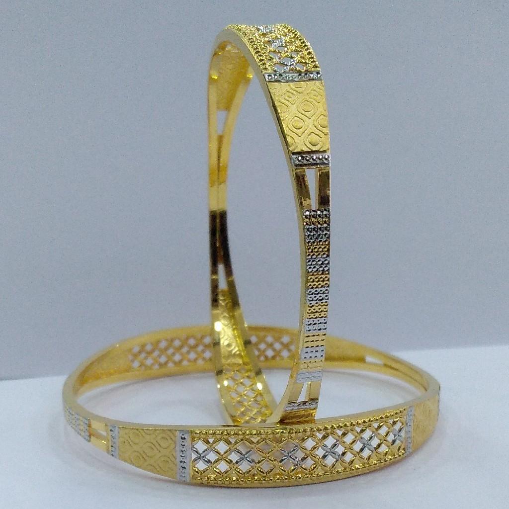 22KT/ 916 Gold fancy handmade casual wear cooper kadli for ladies