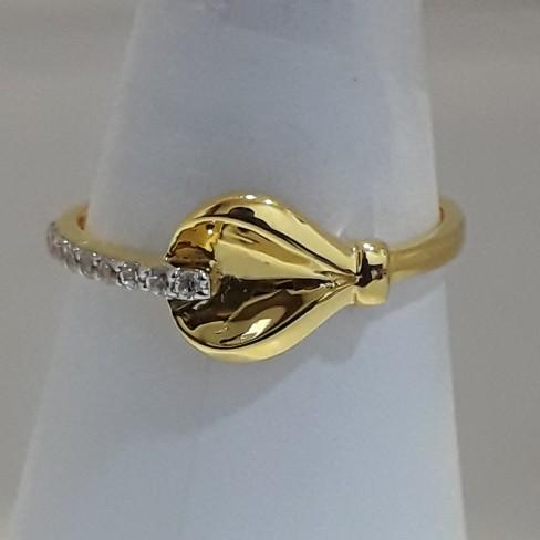 916 Gold light weight ladies ring MJ-ED5170