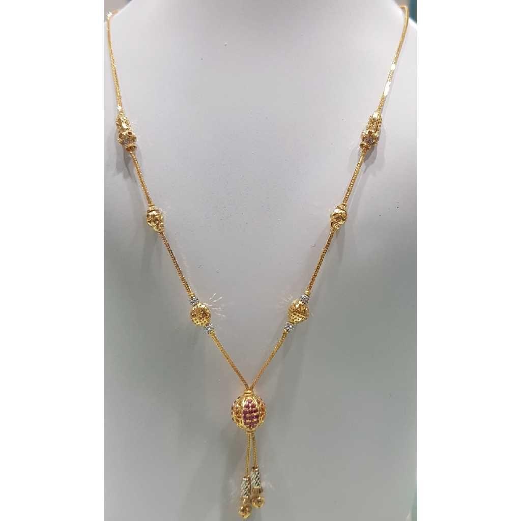 22K / 916 Gold Ladies Classic Moti Necklace