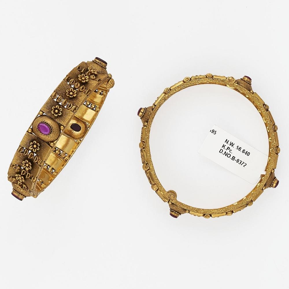 22KT Gold Modern Bangle SJ-8080