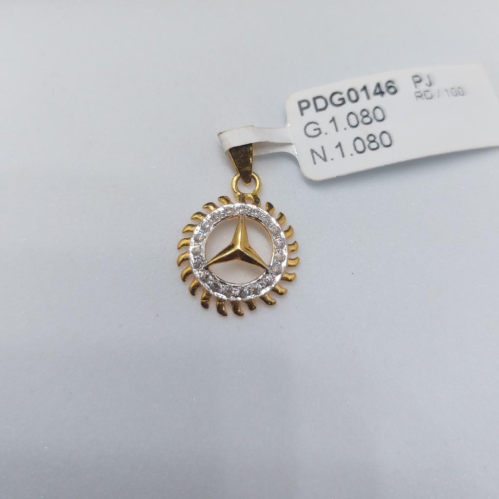 22k fancy small pendant