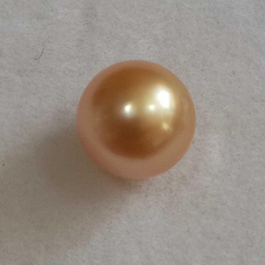 3.57ct round golden pearl-moti