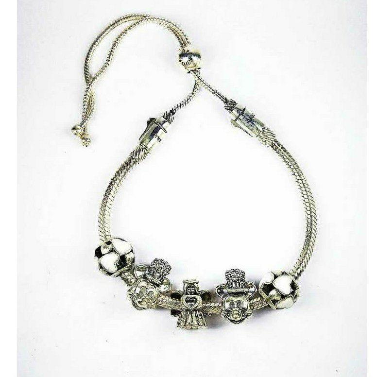 Fancy 925 Silver Ladies Kada Bracelet