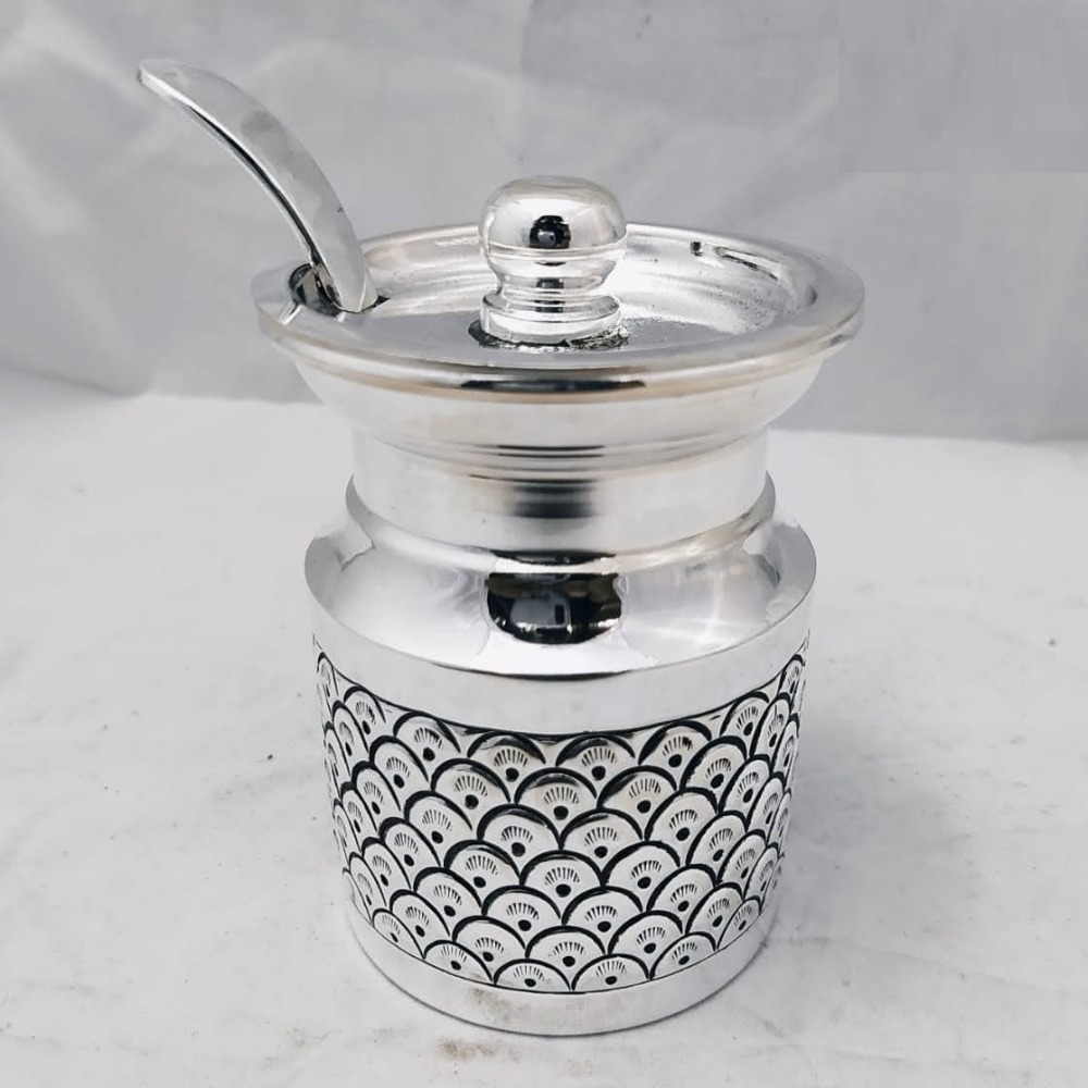 925 Pure Silver Ghee Dani (Designer And Antique Carvings) PO-244-01