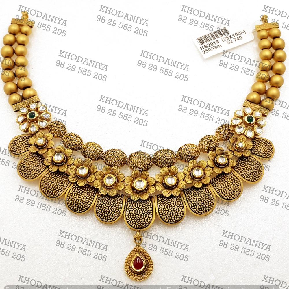 haar Kundan Set 916 Bridal Set gold Jewelry