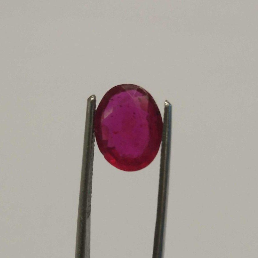 2.58ct oval red ruby-manek