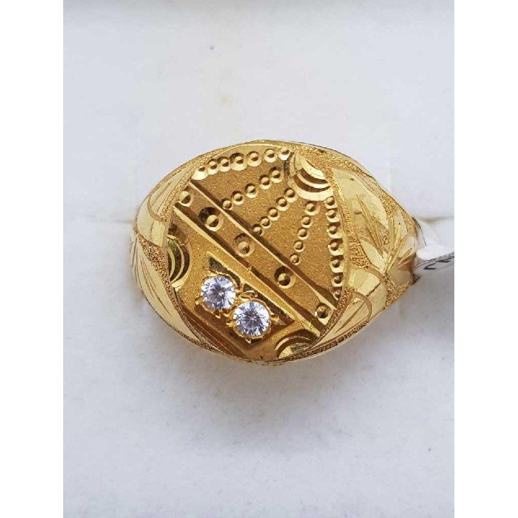 916 Plain Gold gents ring SJ-GR/30