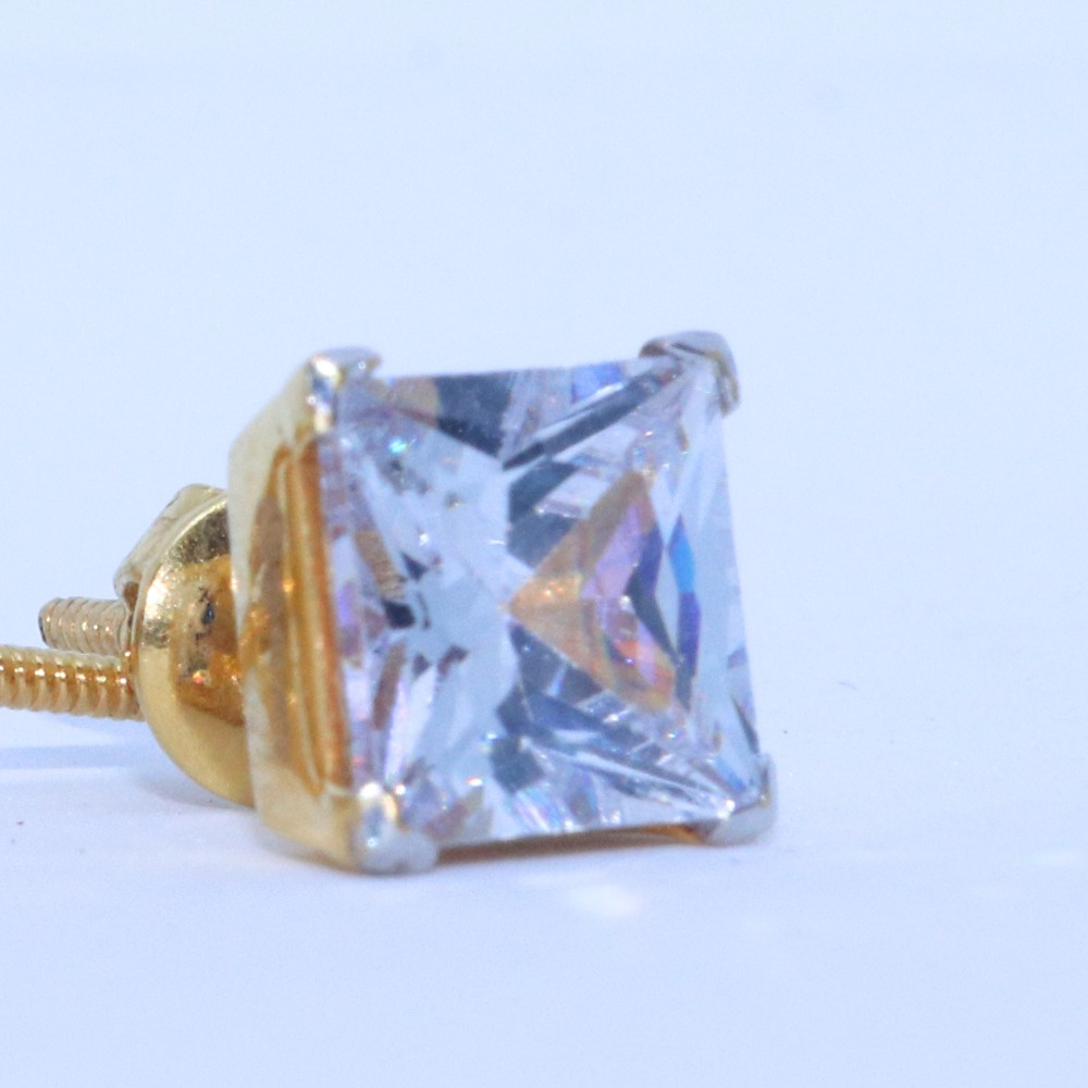 22KT / 916 Gold fancy square Solider Earring For ladies BTG0408