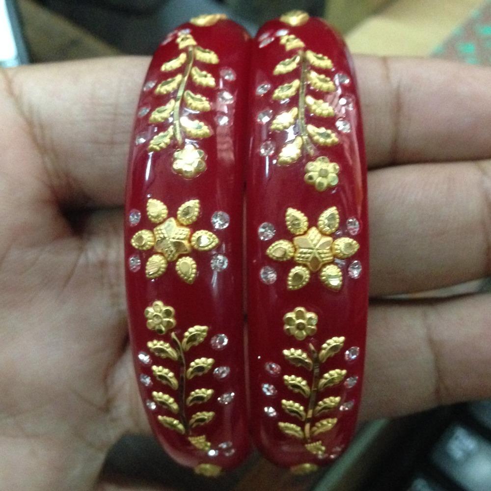 916 gold lotus flower well chudi