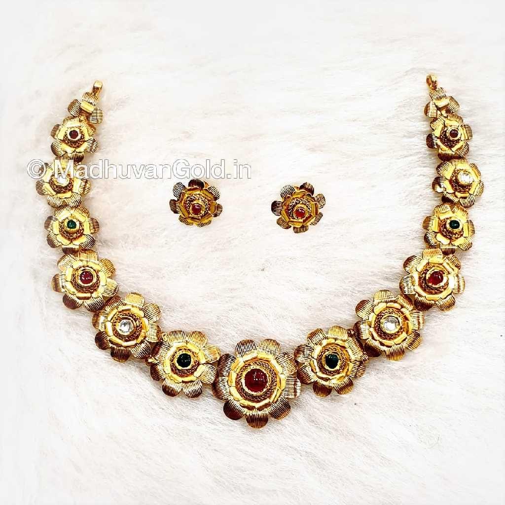 22k Gold Calcutti Necklace Set