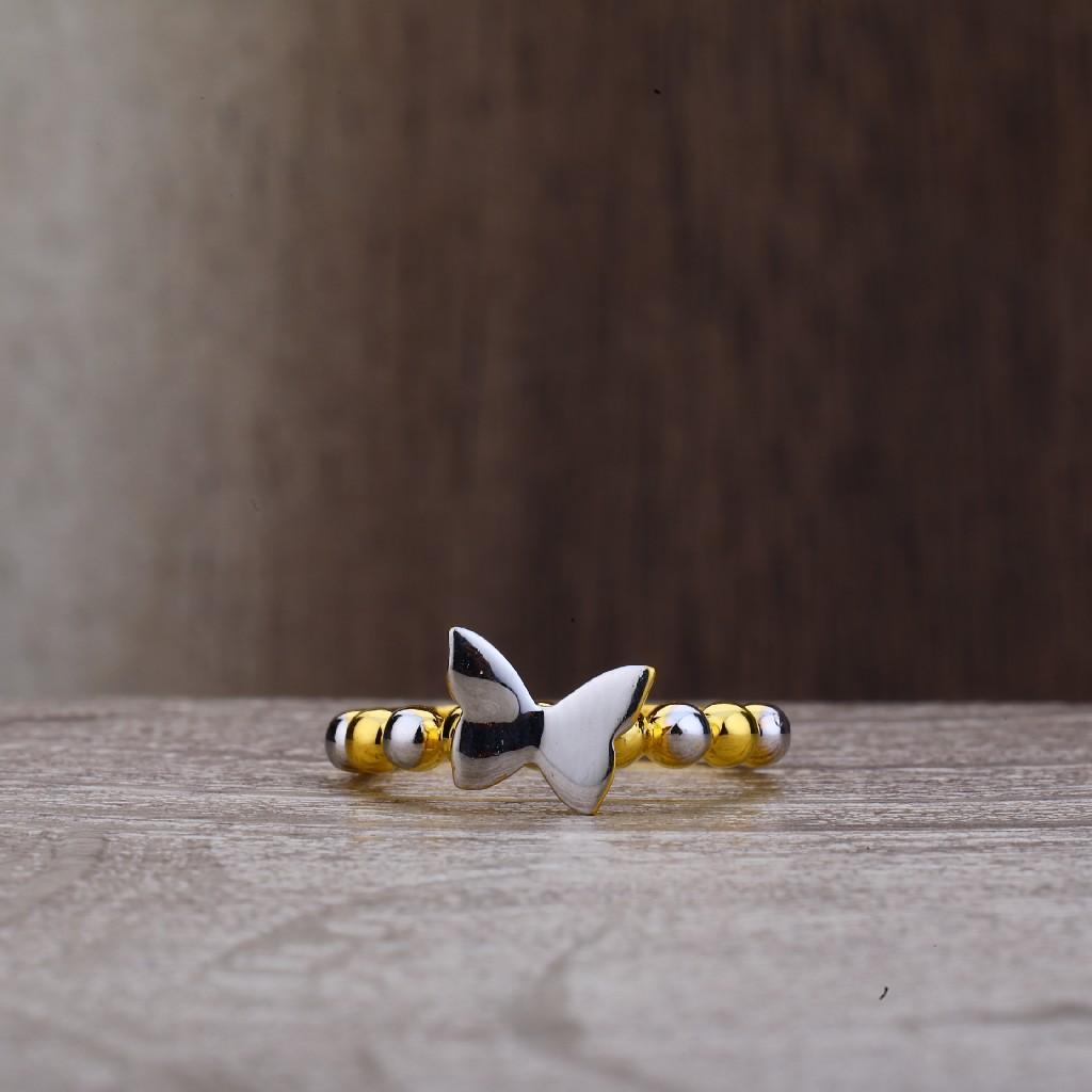 Ladies 916 Butterfly Design Fancy Plain Gold Ring-LPR163