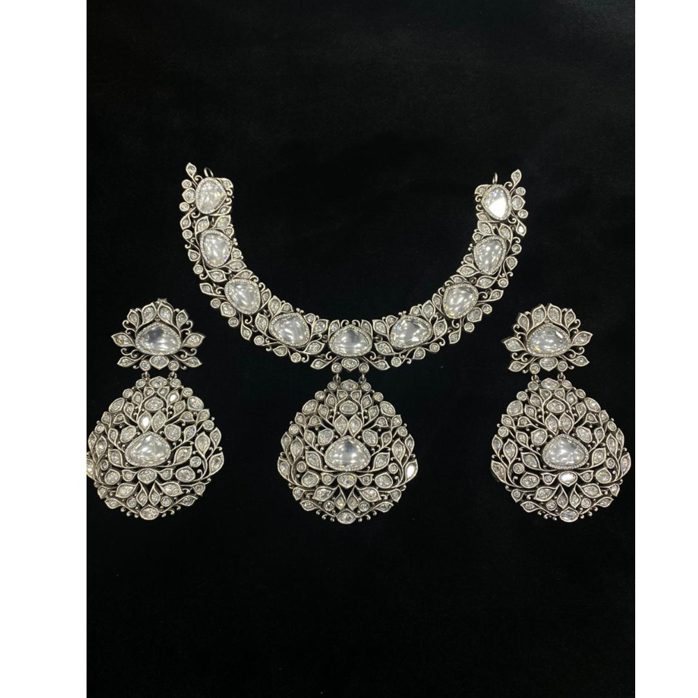 925 Sterling silver Classic Necklace Set VJ-N003