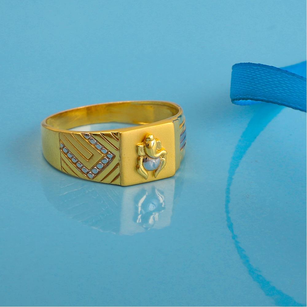 916 gold plain design ring