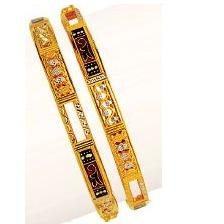 916 Gold Ladies Double Pipe Kadli