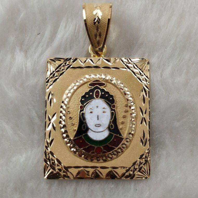 Chehar Maa Minakari Pendant