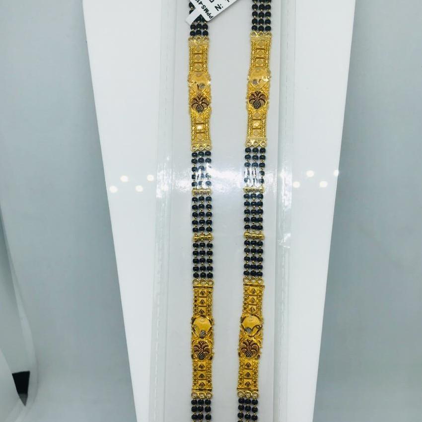 916 Plain Patta 3 Line Mangalsutra Set RBO PPMS410