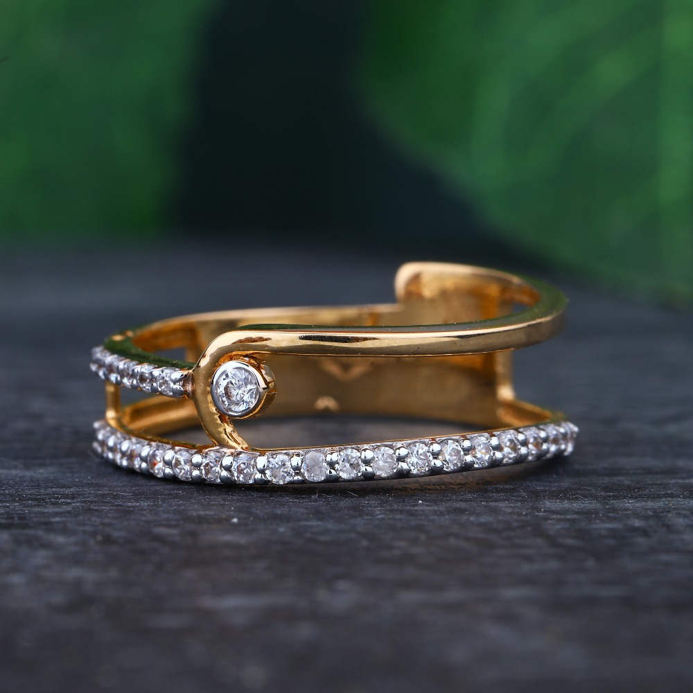 916 Gold Hallmark Classic Ring For women
