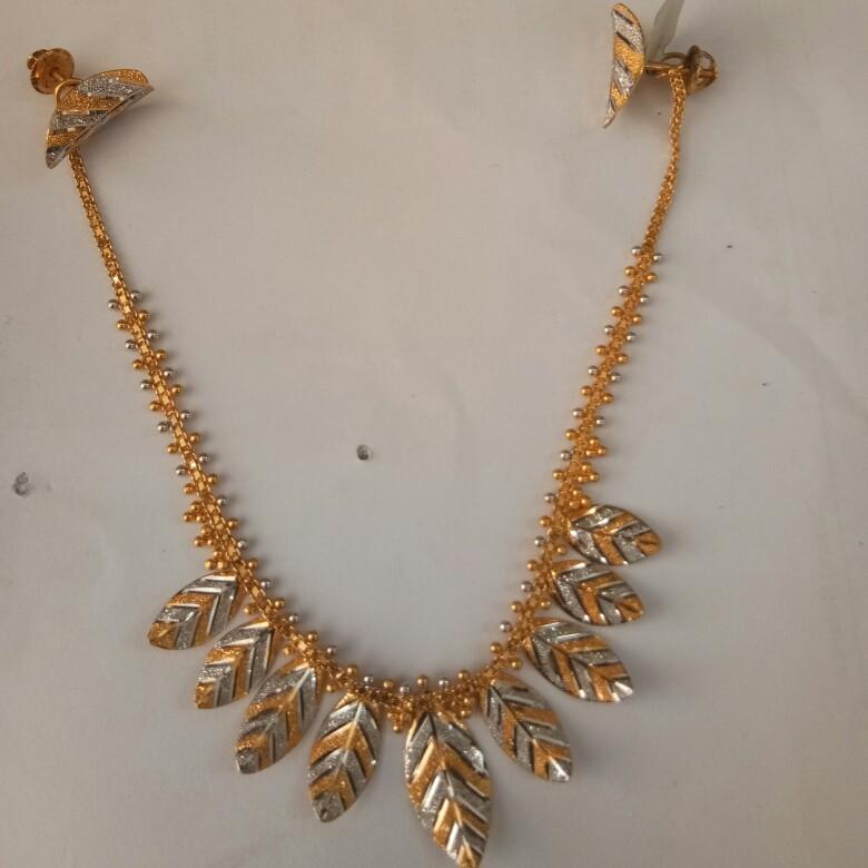916 Gold Antique Necklace set HO1988