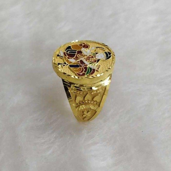 916 Gold Bahuchar Maa Gents Ring