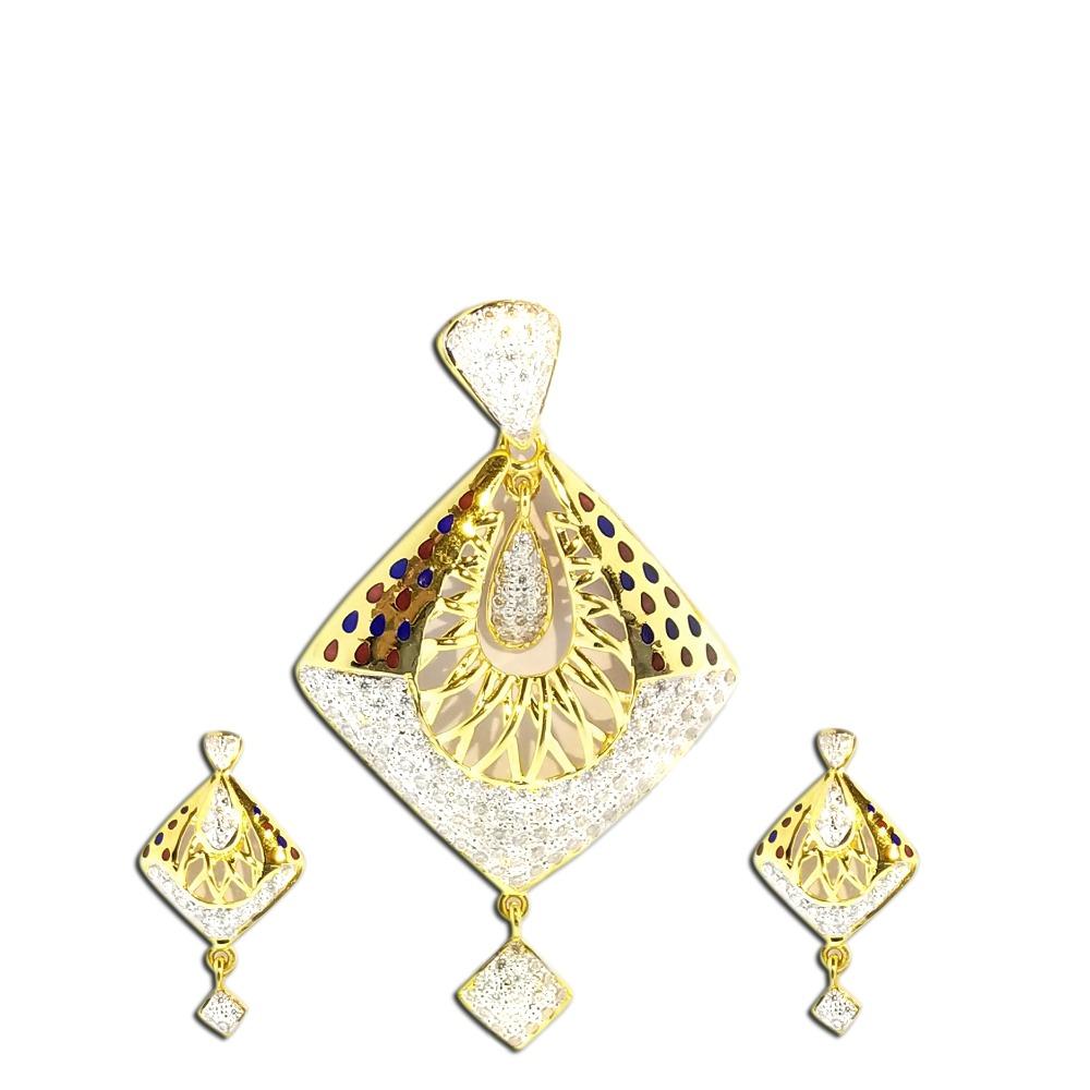 916 Gold Fancy Pendant Set SO-PS002