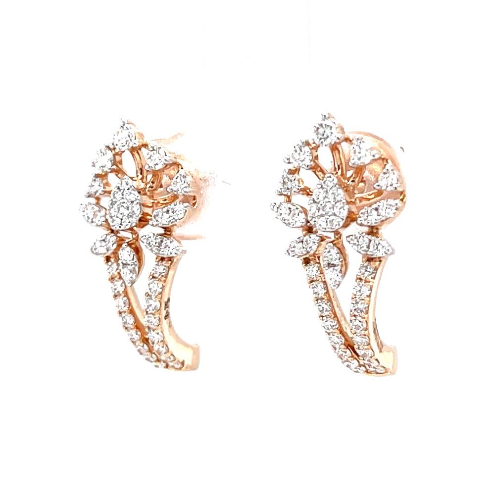 Diamond bali in prong & micro pave set in premium quality diamonds