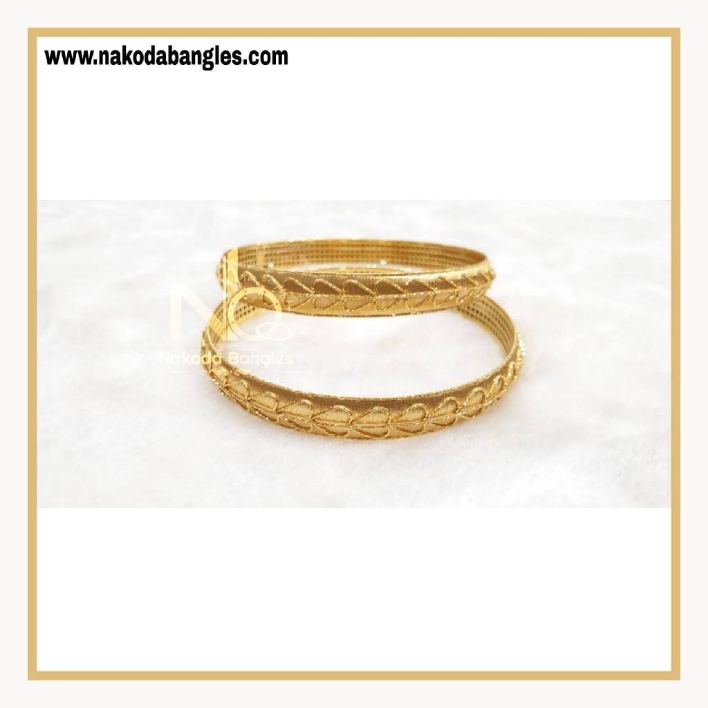 916 Gold Patra Bangles NB - 863