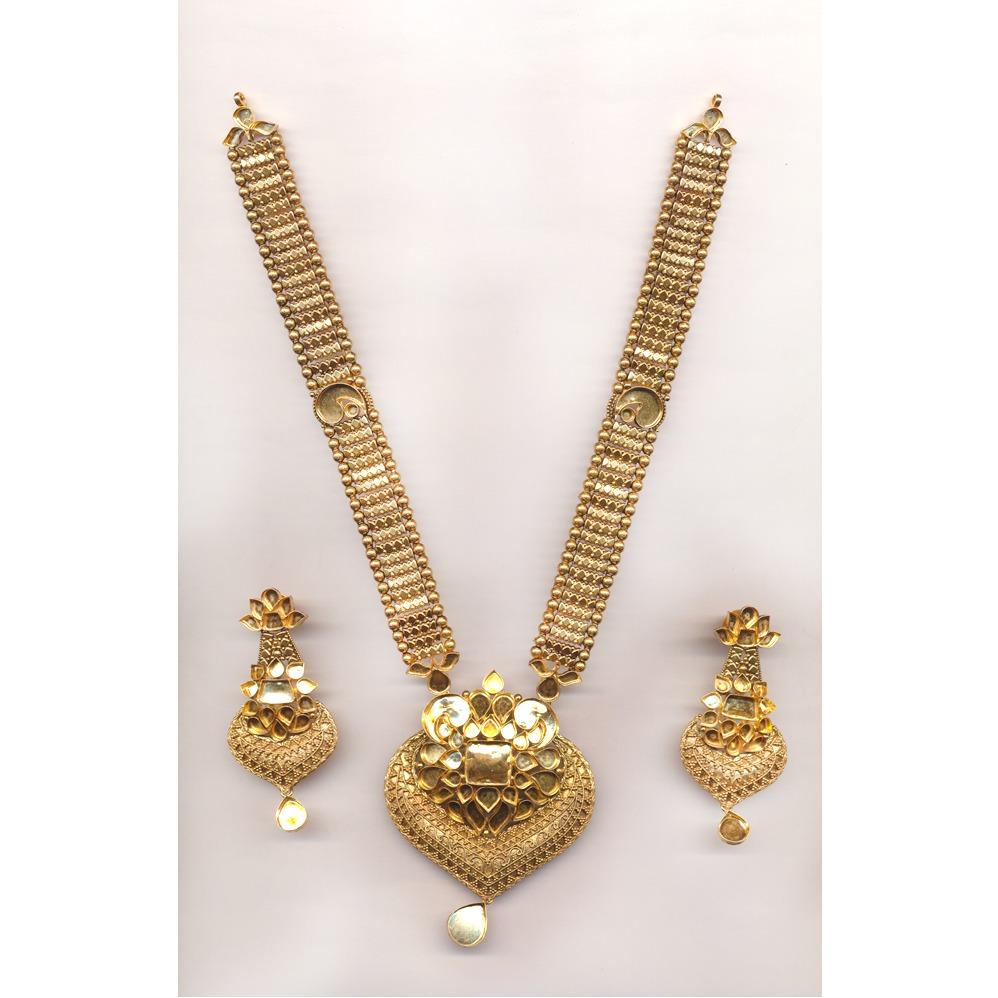 Jadtar Necklace Set Khokha OM - N024