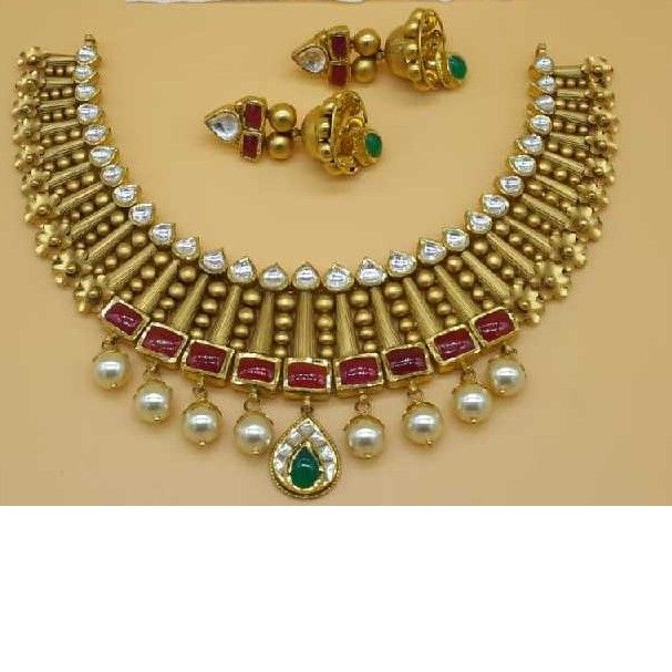 Gold designer antique set