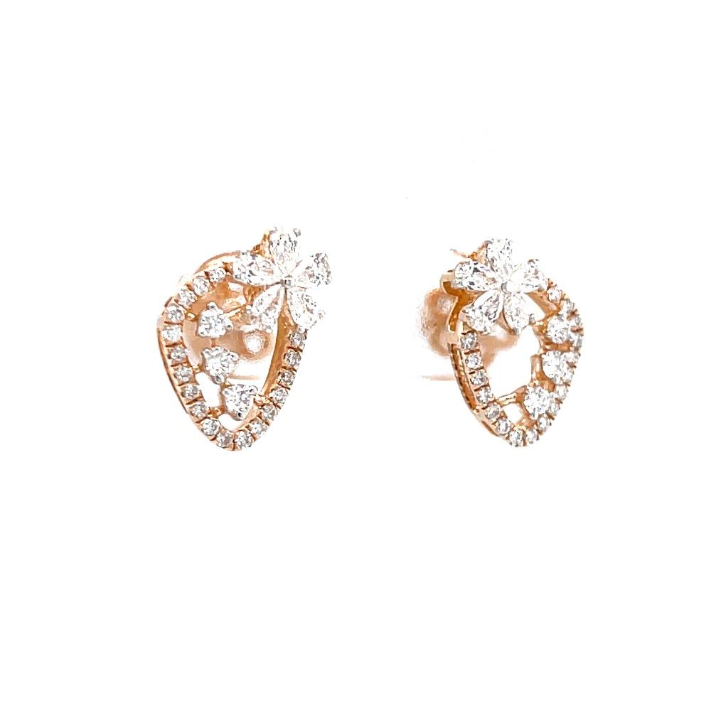 Schick diamond stud with pear flower as motif