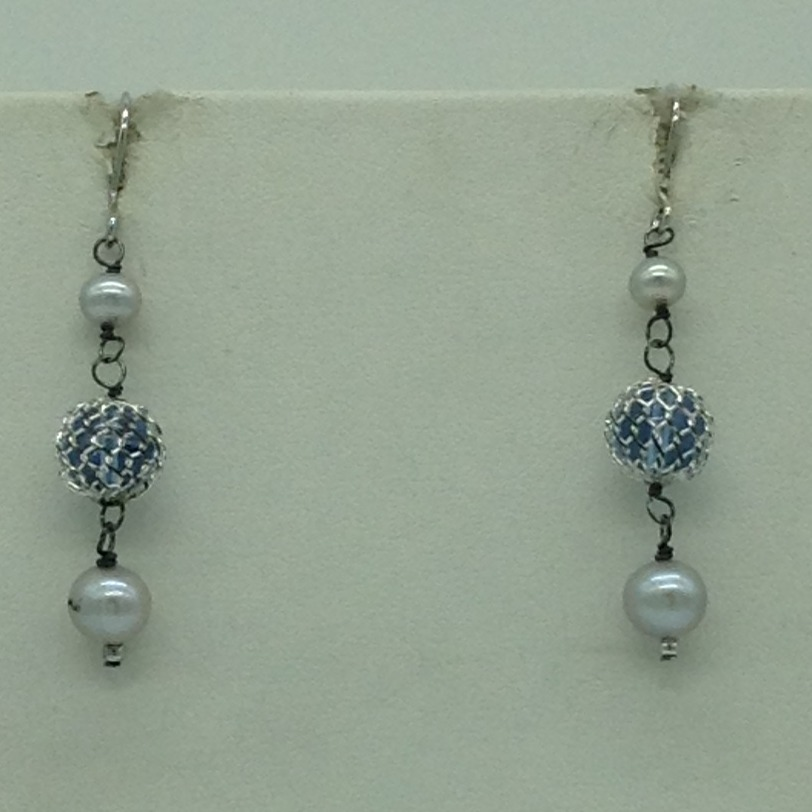 Freshwater GreyPearls and Semi BeedsSilver ChainSet JNC0088