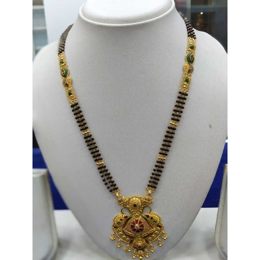 760 Gold Mangalsutra And Pendant RJ-M022