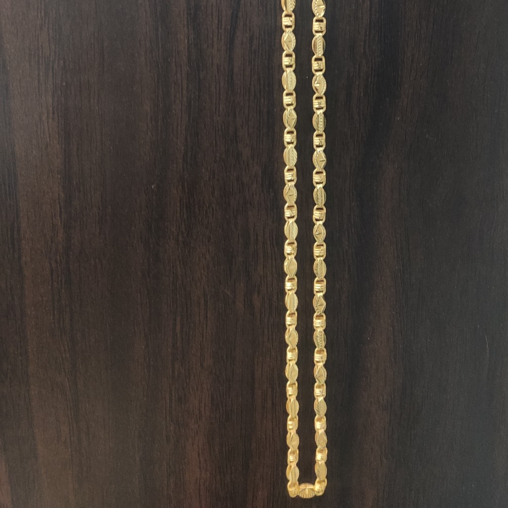 22 carat gold handmade chain 20gm