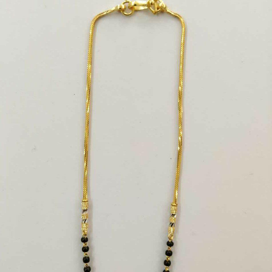 22k Gold Designer Single Line Mangalsutra DVJ-020