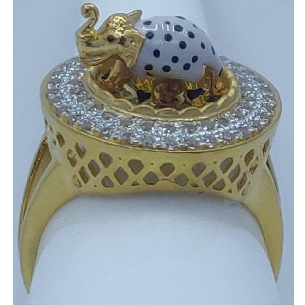 916 Gold Attractive Elephant Design Ring SSJ-R006
