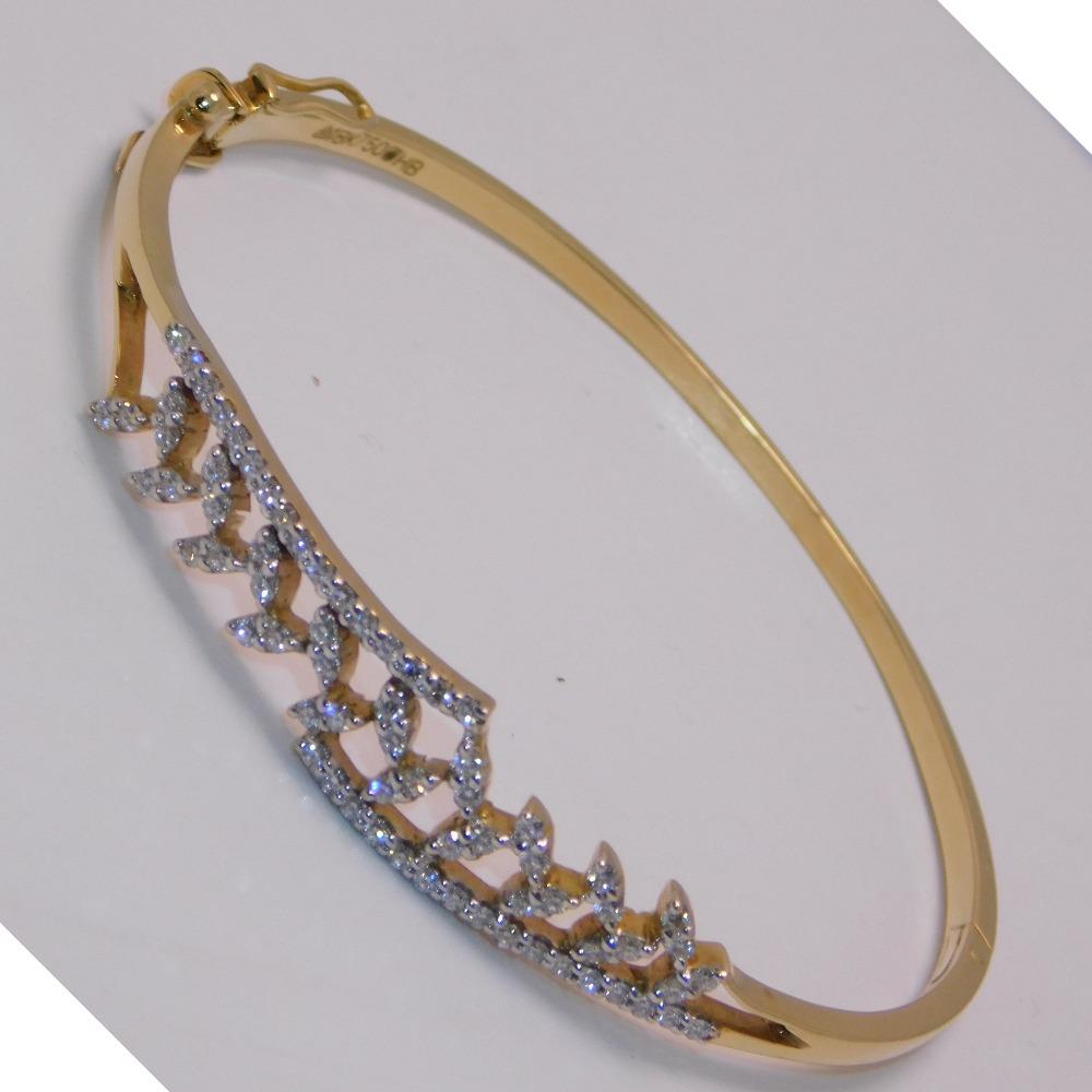 18K gold diamond bracelet agj-br-47